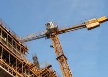Chantier de construction dans un nouveau secteur de bureau Photo stock