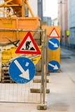 Chantier de construction dans une ville Photographie stock libre de droits