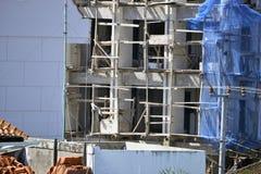Chantier de construction de Balinese dans le processus, sécurité première Photos libres de droits
