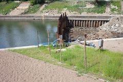 Chantier de construction de canal Image libre de droits