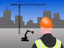 Chantier de construction de Dallas illustration stock