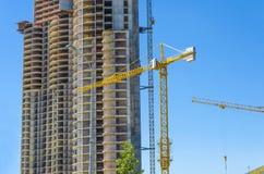 Chantier de construction de gratte-ciel photographie stock libre de droits