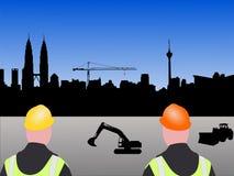 Chantier de construction de Kuala Lumpur illustration de vecteur