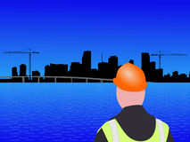 Chantier de construction de Miami illustration stock