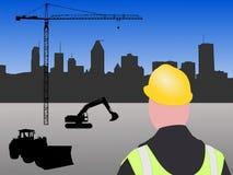 Chantier de construction de Montréal illustration de vecteur
