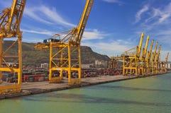Chantier de construction de navires - Barcelone Images stock