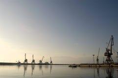Chantier de construction de navires et port Photo libre de droits