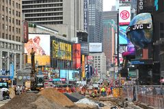 Chantier de construction de New York Photographie stock