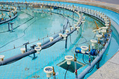 Chantier de construction de piscine de fontaine Image stock