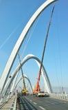 Chantier de construction de pont Photo stock