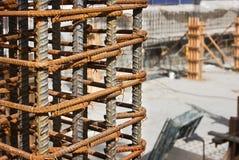 Chantier de construction de Rebar photo libre de droits