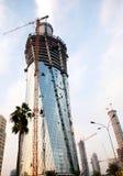 Chantier de construction de tour du Qatar Photo libre de droits