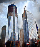 Chantier de construction de World Trade Center Images libres de droits