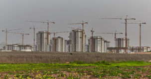 Chantier de construction en Israël photos libres de droits