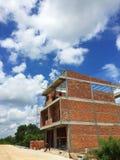 Chantier de construction en Sunny Day Photos libres de droits