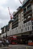 Chantier de construction en Victoria London Images libres de droits