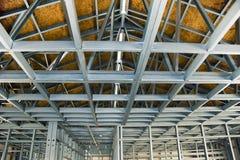 Chantier de construction - encadrement en acier formé à froid Photographie stock libre de droits
