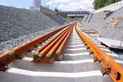 Chantier de construction ferroviaire de métro Images libres de droits