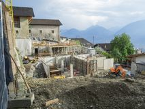 Chantier de construction grand-angulaire Photo stock