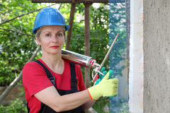 Chantier de construction, isolation de mousse de styrol photos libres de droits