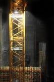 Chantier de construction la nuit Photographie stock