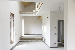 Chantier de construction moderne de villa Image libre de droits