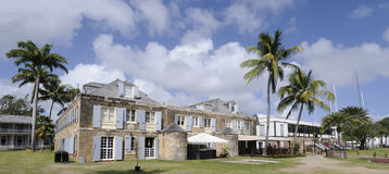 Chantier de construction navale du Nelson à l'Antigua Photographie stock libre de droits