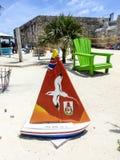 Chantier de construction navale naval royal en plage des Bermudes Images libres de droits