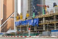 Chantier de construction non fini images stock