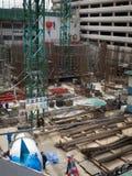 Chantier de construction occupé Photo stock