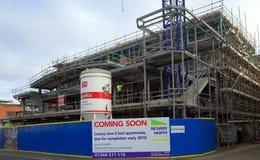 Chantier de construction pour les appartements de luxe dans Bracknell, Angleterre Photo stock