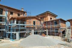 Chantier de construction résidentielle Images libres de droits