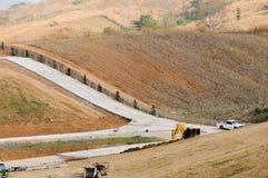 Chantier de construction de terre image stock