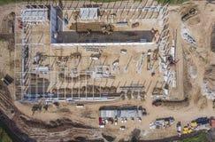 Chantier de construction tiré d'en haut photos stock
