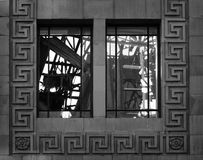 Chantier de démolition - fenêtre photographie stock libre de droits