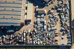 Chantier de ferraille aérien Afrique du Sud Photographie stock libre de droits