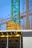 Chantier de grue et de construction Photographie stock