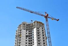 Chantier de grue et de construction Photo stock