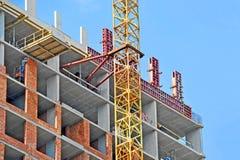 Chantier de grue et de construction Image stock