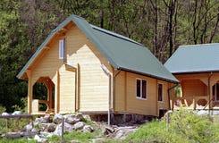 Chantier en bois de maison Photo stock