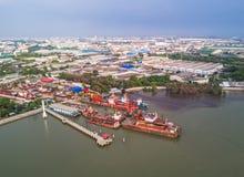 Chantier naval à la zone industrielle Photo libre de droits