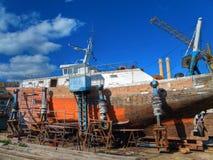Chantier naval Images libres de droits