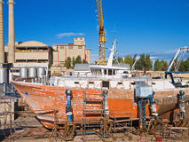Chantier naval. Images stock