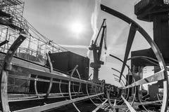 Chantier naval image libre de droits