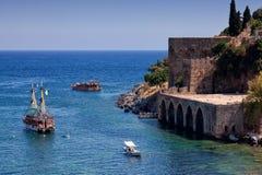 Chantier naval antique de Tersane dans Alanya (Turquie) Photo stock