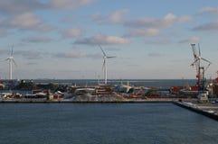 Chantier naval chez Frederokshavn, Danemark Image stock