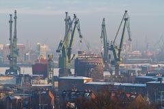 Chantier naval à Danzig Photo libre de droits