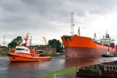 Chantier naval, Danzig, Pologne Images libres de droits