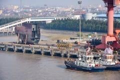 Chantier naval de Changhaï photos stock