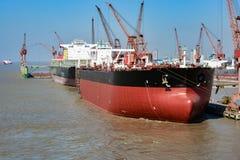 Chantier naval de Changhaï photos libres de droits